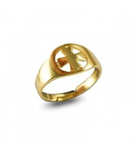 Δαχτυλίδι ασήμι 925 σταυρός