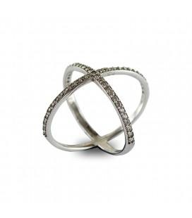 Δαχτυλίδι ασήμι 925 χιαστή