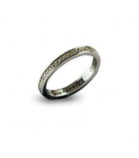 Δαχτυλίδι ασήμι 925 ολόβερο ζιργκόν