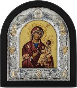 Ασημένια Εικόνα Παναγία Αμόλυντος Μεταξοτυπία 103-G
