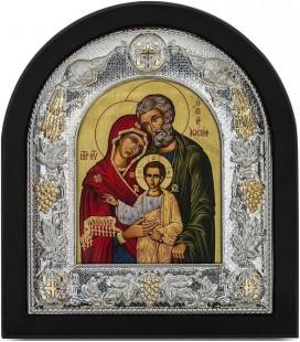 Ασημένια Εικόνα Αγία Οικογένεια Μεταξοτυπία 106-G