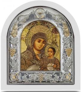 Ασημένια Εικόνα Παναγία Βηθλεέμ Μεταξοτυπία 117-G