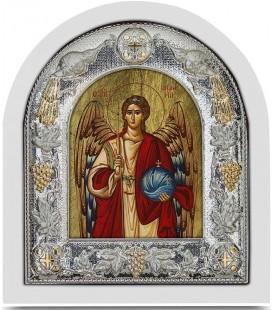 Ασημένια Εικόνα Άρχων Μιχαήλ Μεταξοτυπία 123-G