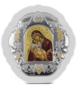 Ασημένια Εικόνα Παναγία Γλυκοφιλούσα 402-G