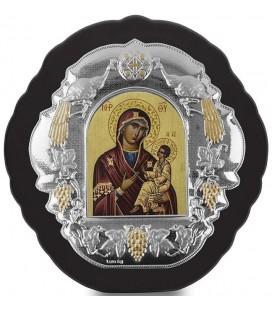 Ασημένια Εικόνα Παναγία Αμόλυντος Μεταξοτυπία 403-G