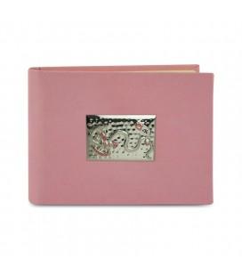 Ασημένιο Αλμπουμ Αλογακι 15x20 Ροζ