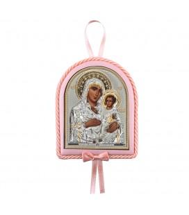 Παιδικό εικονάκι Παναγία Ιεροσολυμίτισσα με μουσική ροζ
