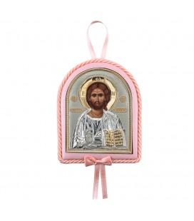 Παιδικό εικονάκι Χριστός με μουσική ροζ