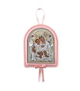 Παιδικό εικονάκι Παναγία Άξιον Εστί με μουσική ροζ