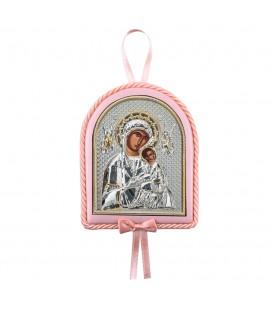 Παιδικό εικονάκι Παναγία Αμόλυντος με μουσική ροζ
