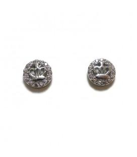 Σκουλαρίκια κορώνα από ασήμι 925