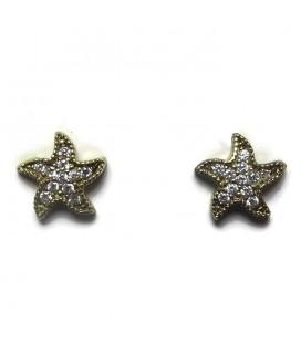 Σκουλαρίκια αστερίες από ασήμι 925
