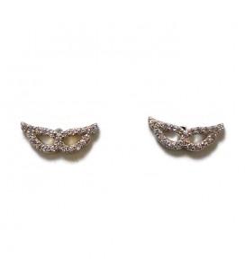 Σκουλαρίκια φτερά από ασήμι 925