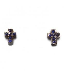 Σκουλαρίκια σταυρός από ασήμι 925 SK4221