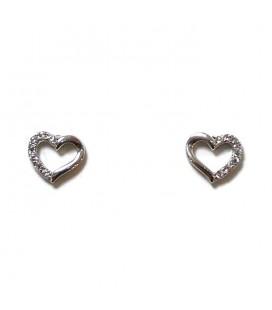 Σκουλαρίκια καρδιές από ασήμι 925