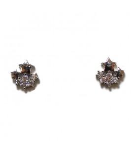 Σκουλαρίκια αστέρια από ασήμι 925