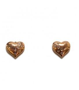 Σκουλαρίκια καρδιές από ασήμι 925 SK4253