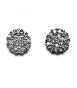 Σκουλαρίκια κύκλοι από ασήμι 925 SK4230