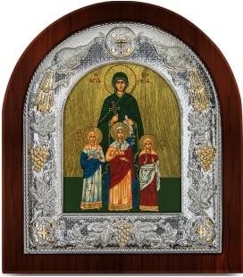 Ασημένια Εικόνα Αγία Σοφία Μεταξοτυπία