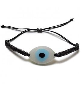 Βραχιόλι μάτι χειροποίητο μακραμέ BRN05