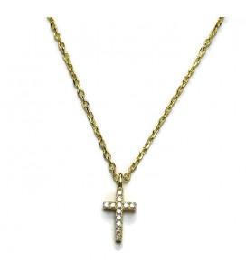 Κολιέ σταυρός από ασήμι 925 KL51011g