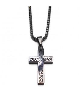 Αντρικός σταυρός με αλυσίδα από ατσάλι