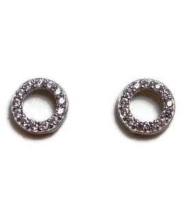 Σκουλαρίκια κύκλοι από ασήμι 925