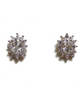 Σκουλαρίκια ροζέτες από ασήμι 925