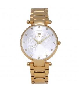 Ρολόι Season Time Corona Crystals Gold Stainless Steel bracelet 241-1