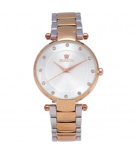 Ρολόι Season Time Corona Crystals Two Tone Steel bracelet 241-2