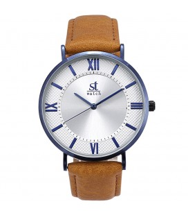 Season Time WATCH 2177-3 Empire Brown Leather Strap