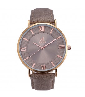 Season Time WATCH 2177-8 Empire Grey  Leather Strap