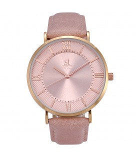 Season Time WATCH 2177-9 Empire Pink Leather Strap
