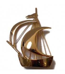 Διακοσμητικό δώρο καράβι επιχρυσωμένο