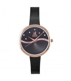 Season Time WATCH Metropolitan Series Crystals Black Metal Bracelet 2276-1