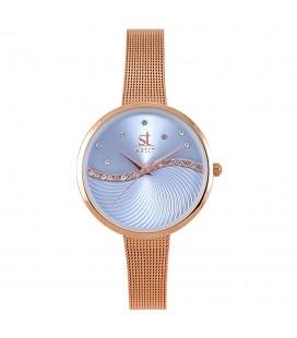Season Time WATCH Metropolitan Series Crystals Rose Gold Metal Bracelet 2276-2