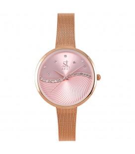 Season Time WATCH Metropolitan Series Crystals Rose Gold Metal Bracelet 2276-3