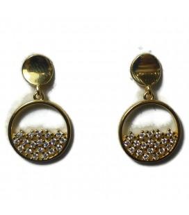 Σκουλαρίκια κύκλοι κρεμαστοί από ασήμι 925 sk8442