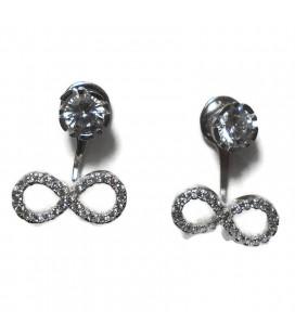 Σκουλαρίκια κρεμαστά με άπειρο από ασήμι 925