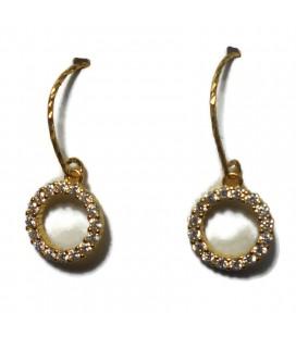 Σκουλαρίκια κύκλοι κρεμαστοί από ασήμι 925 sk8492