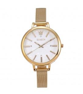 Season Time WATCH Avenue Series Gold Stainless Steel Bracelet 4237-1