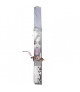 Λαμπάδα χειροποίητη Marilyn με δώρο βραχιόλι