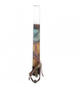 Λαμπάδα χειροποίητη πυξίδα με δώρο βραχιόλι