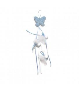 Μπομπονιέρα κρεμαστή κεραμική πεταλούδα MPOB8828