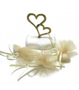 Μπομπονιέρα επιτραπέζια καρδιές MPOG8770