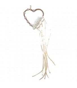 Μπομπονιέρα κρρμαστό με καρδιά MPOG8793