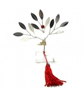 Δέντρο  με ρόδι γούρι 2021 επιτραπέζιο επασημωμένο CHR9984