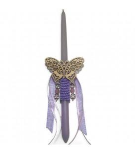 Λαμπάδα  χειροποίητη  πεταλούδα με δώρο βραχιόλι