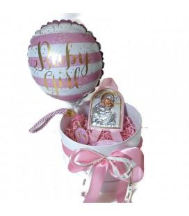 Ασημένιο Σετ δώρου για νεογέννητο για κορίτσι