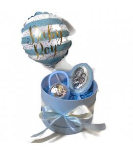 Ασημένιο Σετ δώρου για νεογέννητο για αγόρι